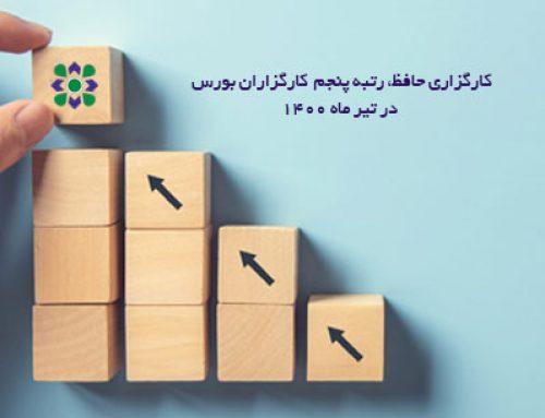 کسب رتبه پنجم کارگزاری حافظ در میان کارگزاران بورس